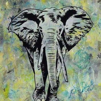 Acrylic Painting- Strong as an Elephant original painting