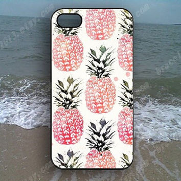 Pineapple pink Pineapple Phone case,Samsung Galaxy S5/S4/S3,iPhone 4/4S case,iPhone 5 case,iPhone 5S case,iPhone 5C case,B37