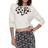 LA Hearts Quilted Cropped Crew Fleece at PacSun.com
