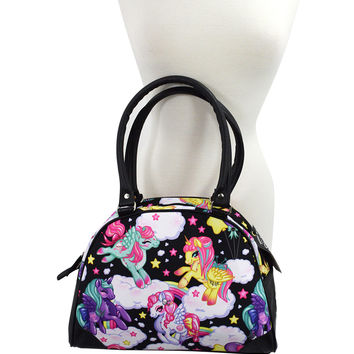 Liquorbrand Rockabilly Lolita Rainbows & Unicorns Pony Bowler Bag