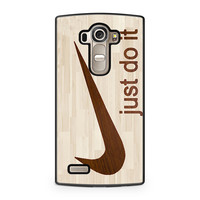 Wooden Nike Just Do It LG G4 case