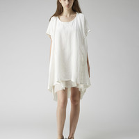 Y's / Linen Tee Dress  |   La Garçonne
