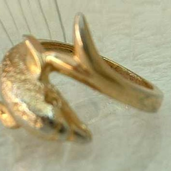 Dolphin Toe Ring Size 3 Animal Mammal Jewelry