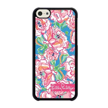 lilly pulitzer charms iphone 5c case cover  number 1