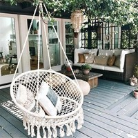 Round Handmade Swinging Hammock Chair