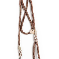 Dyed Rope dog leash dog collar pet accessory dog lead: Small brown cotton rope leash