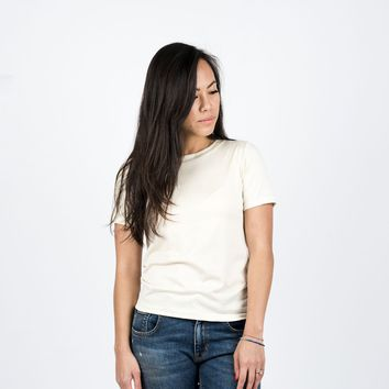 Silk Blend Tee Natural