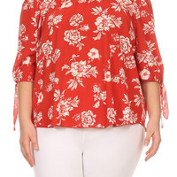 Plus Size Rayna Floral Top