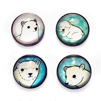 Polar Bear Magnet Set