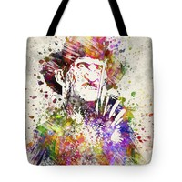 """Freddy Krueger in Color Tote Bag for Sale by Aged Pixel (18"""" x 18"""")"""