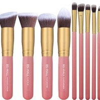 14 Pcs Premium Synthetic Kabuki Makeup Brush Set