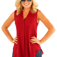 Girl's Night Top: Burgundy