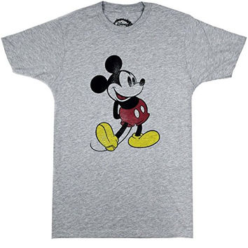 Disney Classic Mickey Mouse Distressed Print T-shirt