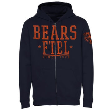 Chicago Bears Front And Sleeve Full Zip Jacket – Navy Blue
