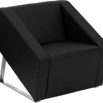 Smart Series Black Leather Reception Chair
