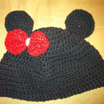 Minnie Mouse Knit Babies Hat