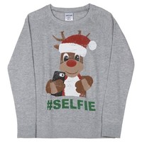 Rudolph Graphic Pullover Sweater Heather Grey