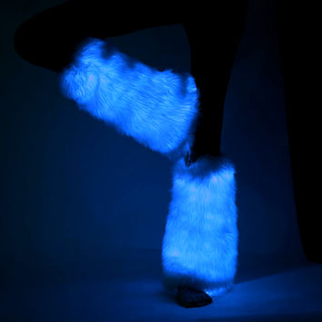 Blue- Light Up Fur Fluffies