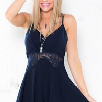 Lacey Divisions playsuit in navy