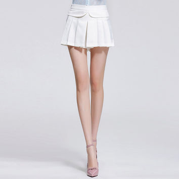 A-line Pleated Short Skirt
