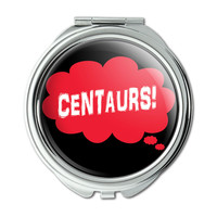 Dreaming of Centaurs Red Compact Purse Mirror