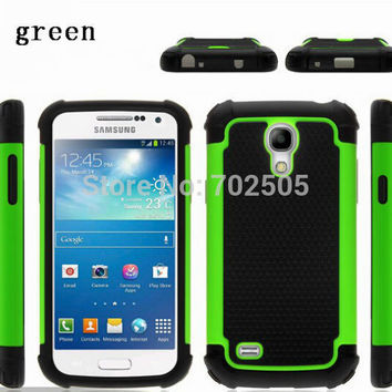 For Samsung Galaxy S4 Mini I9190 S4 I9500 Case 4.3 5.0inch Hybrid Rugged Rubber Hard PC+Silicon Case Cover For S4 S4mini I9190