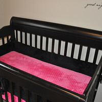 HOT PINK Minky Fitted Crib Sheet- Ships in 1- 3 Days