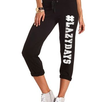 #LazyDays Frech Terry Sweat Pant: Charlotte Russe