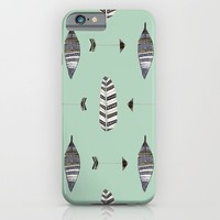 Feather Arrow Blue iPhone & iPod Case by ALLY COXON | Society6
