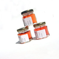 3 Autumn Scented Mini Candles, You Pick Scents, Modern Home Gel Fragrance, Handmade Fresh, Orange Minimalist