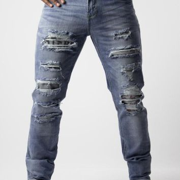 Ripped Jeans Mens Slash By Waiquiri   DIFFERIO