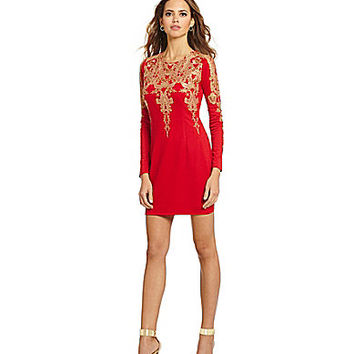 Gianni Bini Fan Fav Jollie Embroidered Lace Dress