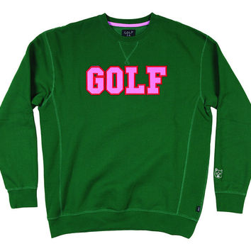 GOLF COLLEGE CREW DARK GREEN – golfwang