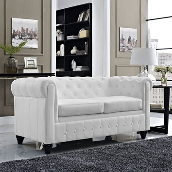 Earl Upholstered Loveseat | Overstock.com Shopping - The Best Deals on Sofas & Loveseats