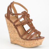 DELICIOUS Spine Womens Gladiator Wedges | Heels & Wedges