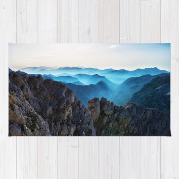 Mountains Breathe Too Rug by Mixed Imagery