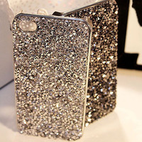 New Style Luxury Bling Rhinestone Cover Fashional Diamonds Crystals Phone Case For Iphone 5