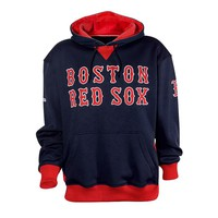Stitches Boston Red Sox Colorblock Fleece Hoodie