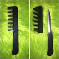 Black Comb Knife