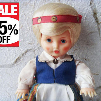 Vintage Latvian Doll Made in USSR in 1970s