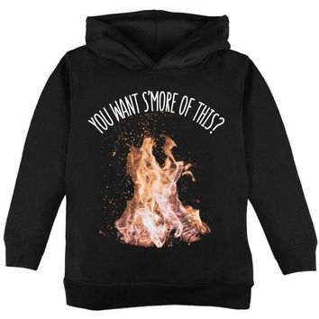 CREYON Autumn You Want S'more of This Bonfire Pun Toddler Hoodie
