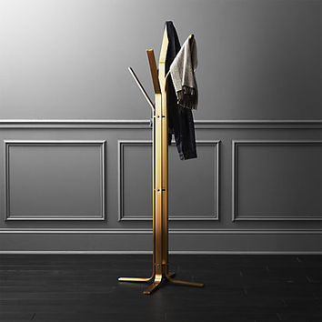 valentina standing gold coat rack