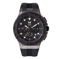 Meister Ambassador MKII AM204RB Stainless Silver Black Watch