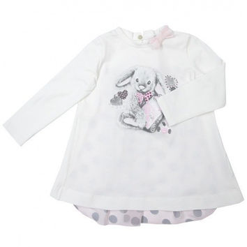Monnalisa - Baby Girls Jersey Bunny Long Sleeve T-Shirt