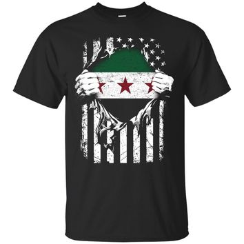 Super Syria Hearts American Syrian Patriot Flag Shirt