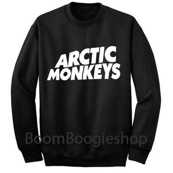 Arctic Monkeys UK Indy Music Black Sweatshirt Crewneck Men or Women Unisex Size - Part1