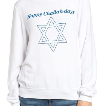 Wildfox Happy Challahdays Pullover   Nordstrom