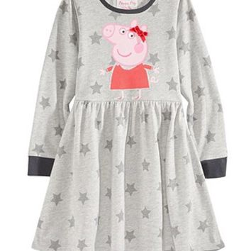 Nickelodeon's® Peppa Pig Star-Print Dress, Little Girls 5, 6X