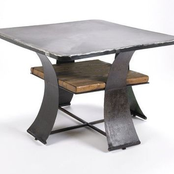 Coffee Table Reclaimed Wood and Recycled Farm by TheSteelFork