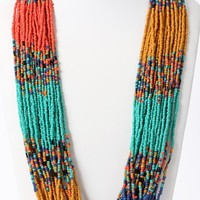 Beaded Strands Necklace | MakeMeChic.com